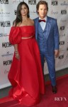 Camila Alves Was Radiant In Red At The Mack, Jack & McConaughey Gala