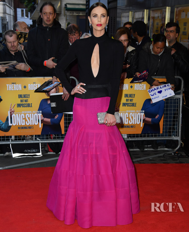 Charlize Theron In Givenchy Haute Couture - Long Shot London Premiere
