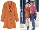 Diane Kruger's MANGO Buttons Soft Dress