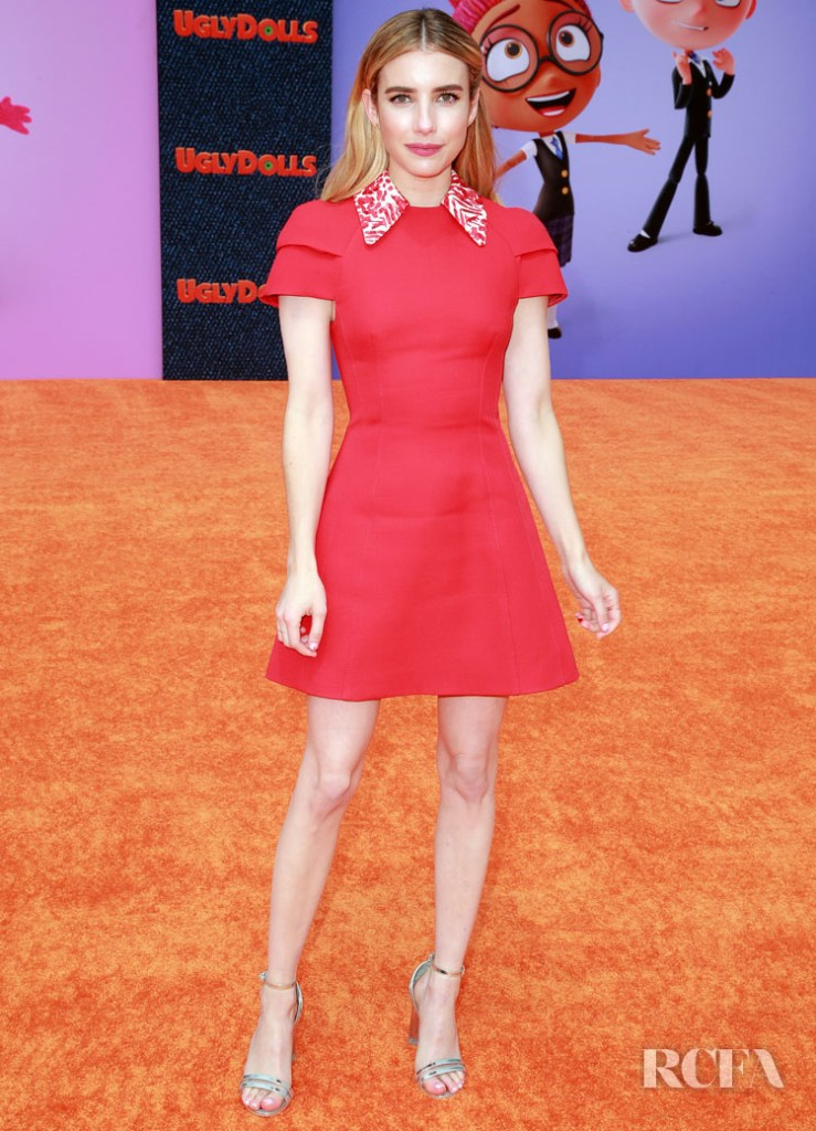 Emma Roberts In Louis Vuitton - 'Ugly Dolls' LA Premiere
