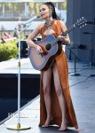Kacey Musgraves Wears Suede To Perform In The Coachella Desert