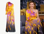 Maggie Gyllenhaal's Peter Pilotto Floral-Print Dress