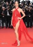 Alessandra Ambrosio In Julien Macdonald - 'Les Miserables' Cannes Film Festival Premiere