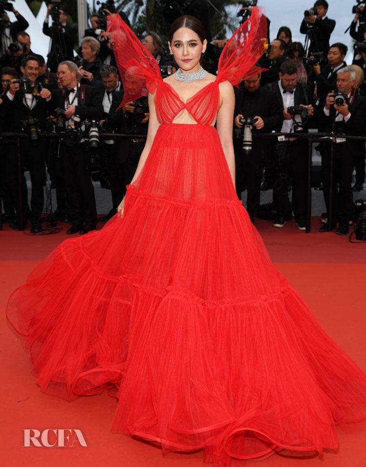 Araya A. Hargate In Jean Paul Gaultier Haute Couture - 'Pain And Glory (Dolor Y Gloria/ Douleur Et Glorie)' Cannes Film Festival Premiere