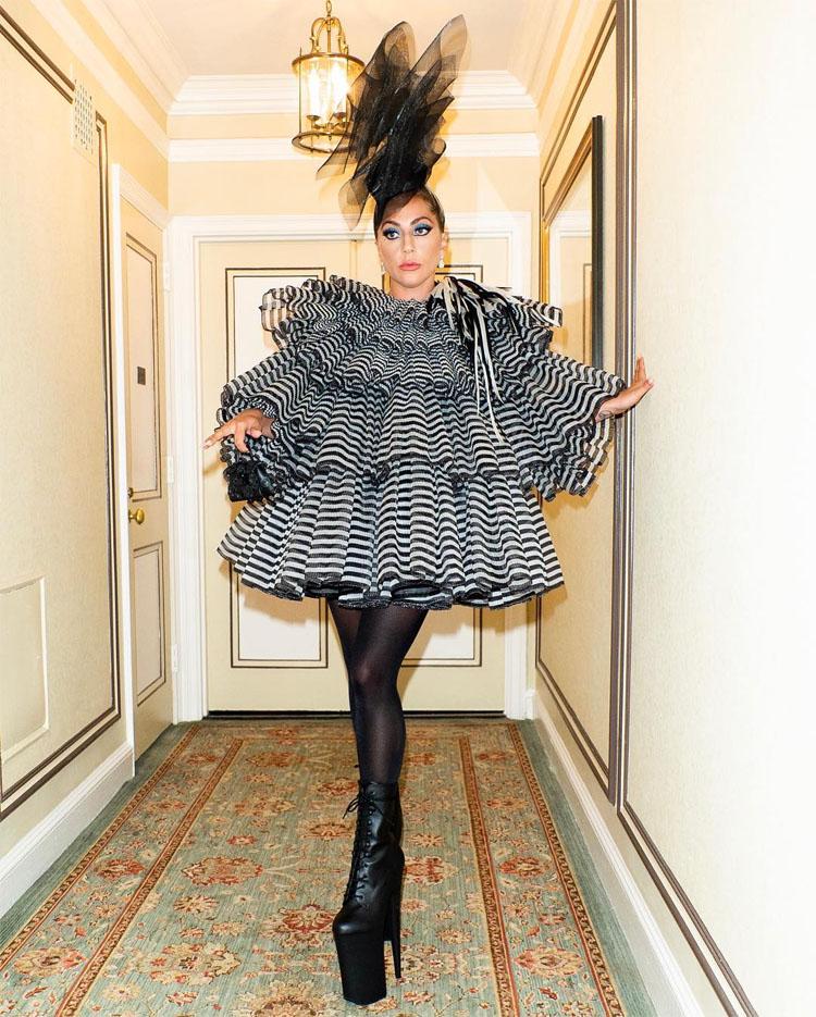 Lady Gaga In Marc Jacobs - Pre-Met Gala Party
