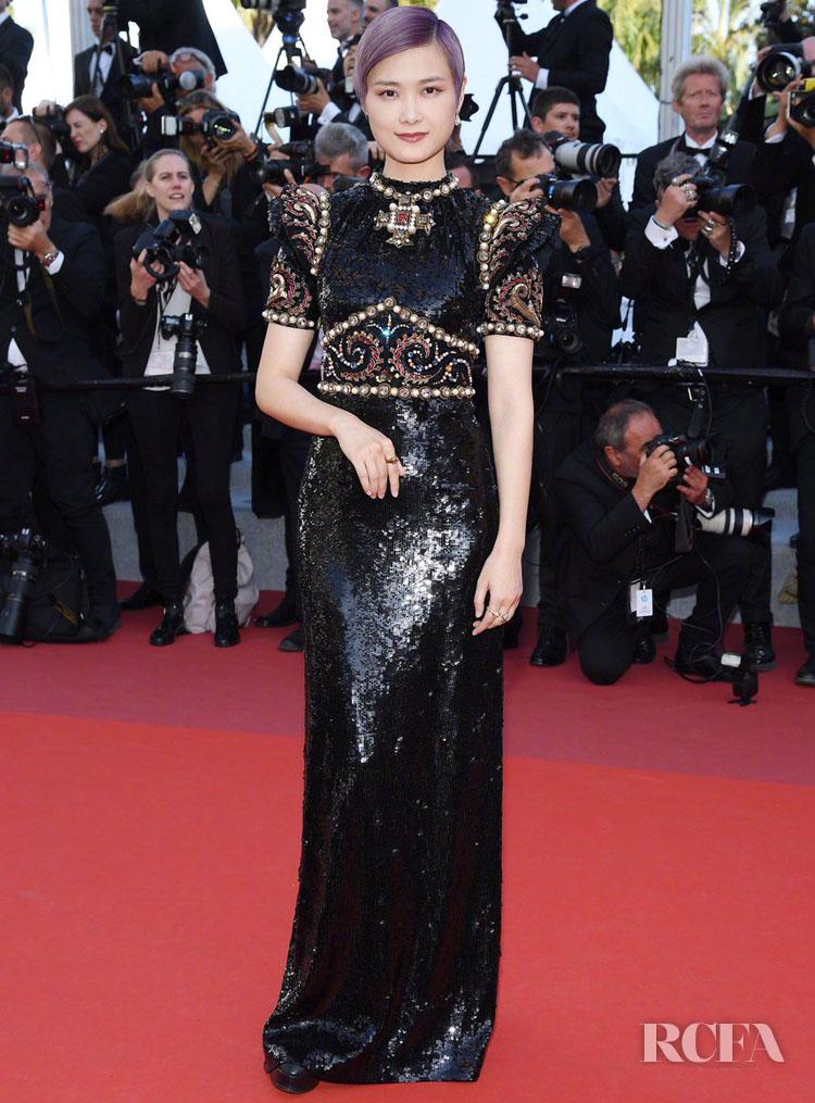 Li Yuchun 李宇春 In Gucci - 'Rocketman' Cannes Film Festival Premiere