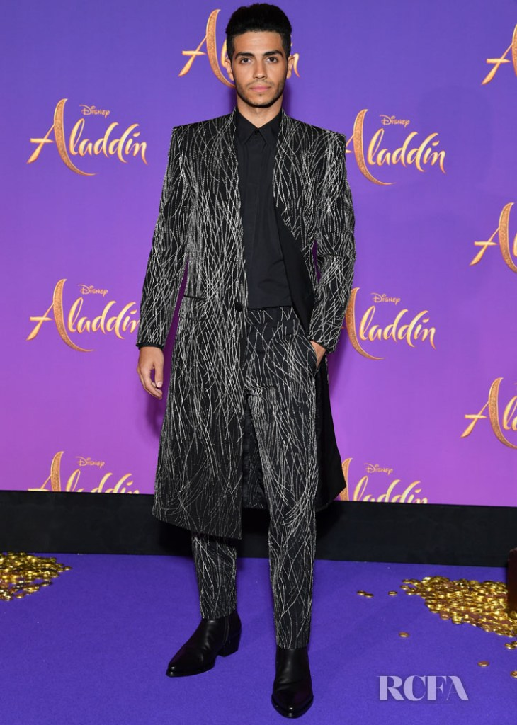 Mena Massoud  In Givenchy -'Aladdin' Paris Screening