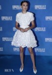 Millie Bobby Brown's Little White 3D Floral Frock For The 'Godzilla: King of the Monsters' Paris Premiere