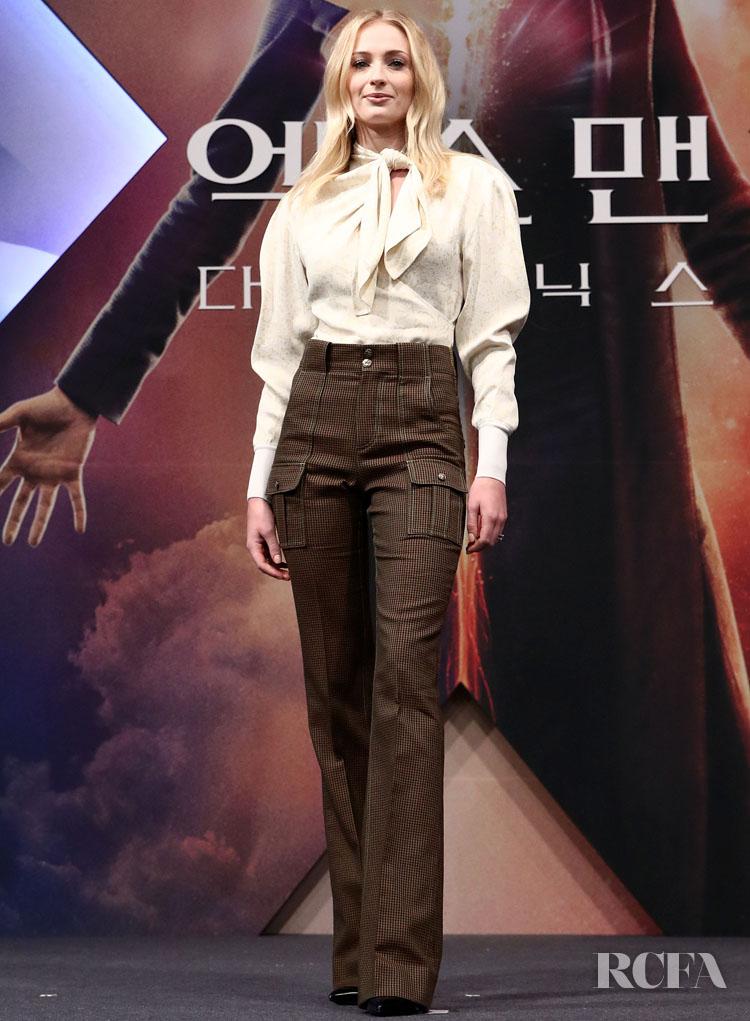 Sophie Turner In Chloe 'X-Men: Dark Phoenix'  Seoul Press Conference