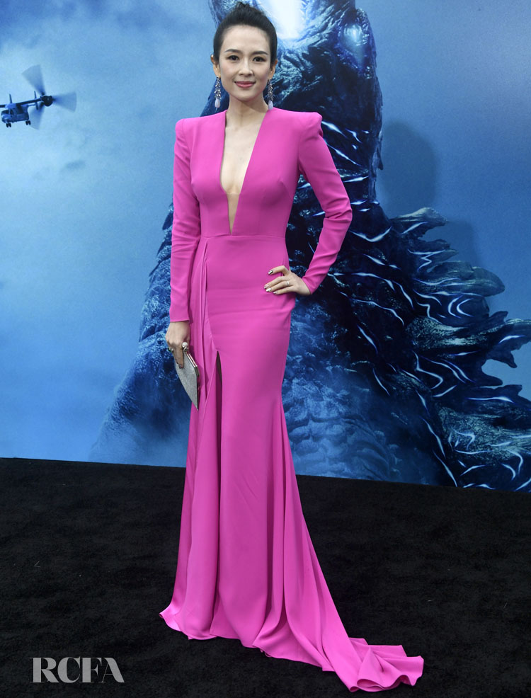 Zhang Ziyi Was Pretty In Pink For The 'Godzilla: King Of The Monsters' LA  Premiere - Red Carpet Fashion Awards