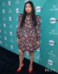 Awkwafina Sports A Floral Liberty Print For 'The Farewell' LA Premiere