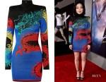 Lana Condor's Balmain Turtleneck Mini Dress