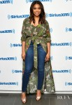 Regina Hall Rocks A Versatile  Floral Shirt Dress For SiriusXM