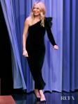 Sienna Miller's Black Velvet Dress For The Tonight Show Starring Jimmy Fallon