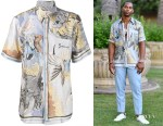 Victor Cruz's Givenchy Dragon Print Shirt