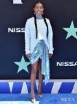 Yara Shahidi Rocks Two Sweaters To The 2019 BET Awards