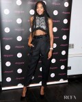 Laura Harrier Was Back In Louis Vuitton For The 'Balance, Not Symmetry' London Premiere