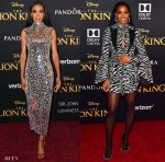 Michelle Williams & Kelly Rowland Support Beyonce At 'The Lion King' World Premiere