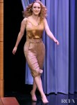 Rachel Brosnahan's Silk & Sequin Moment On The Tonight Show Starring Jimmy Fallon