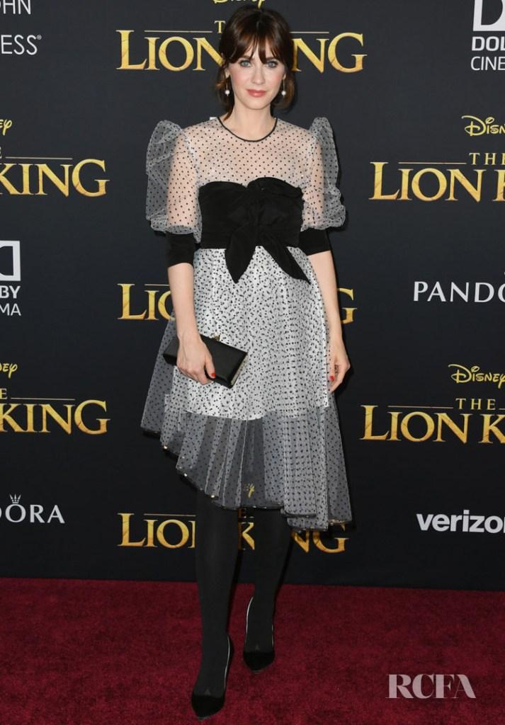 Zooey Deschanel  -  Abodi Spring 2019 'The Lion King' World Premiere