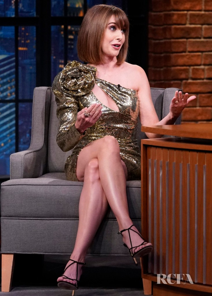 Alison Brie GLOW's In Gold On Late Night with Seth Meyers