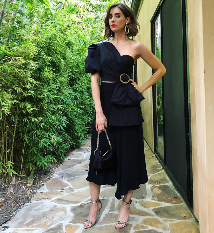 Alison Brie Promotes 'Glow' In Acler & Brock Collection