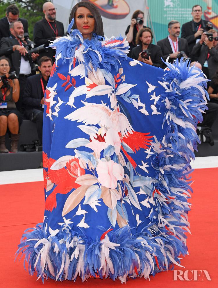 Iman In Valentino Haute Couture - 'La Vérité' Venice Film Festival Premiere
