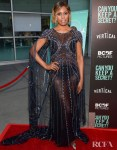 Laverne Cox Was Oozing Glamour In Pamella Roland For The 'Can You Keep A Secret?' LA Screening