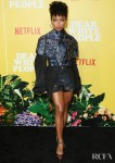 Logan Browning's Eccentric Embroidered Outing For Netflix's 'Dear White People' Season 3 LA Premiere