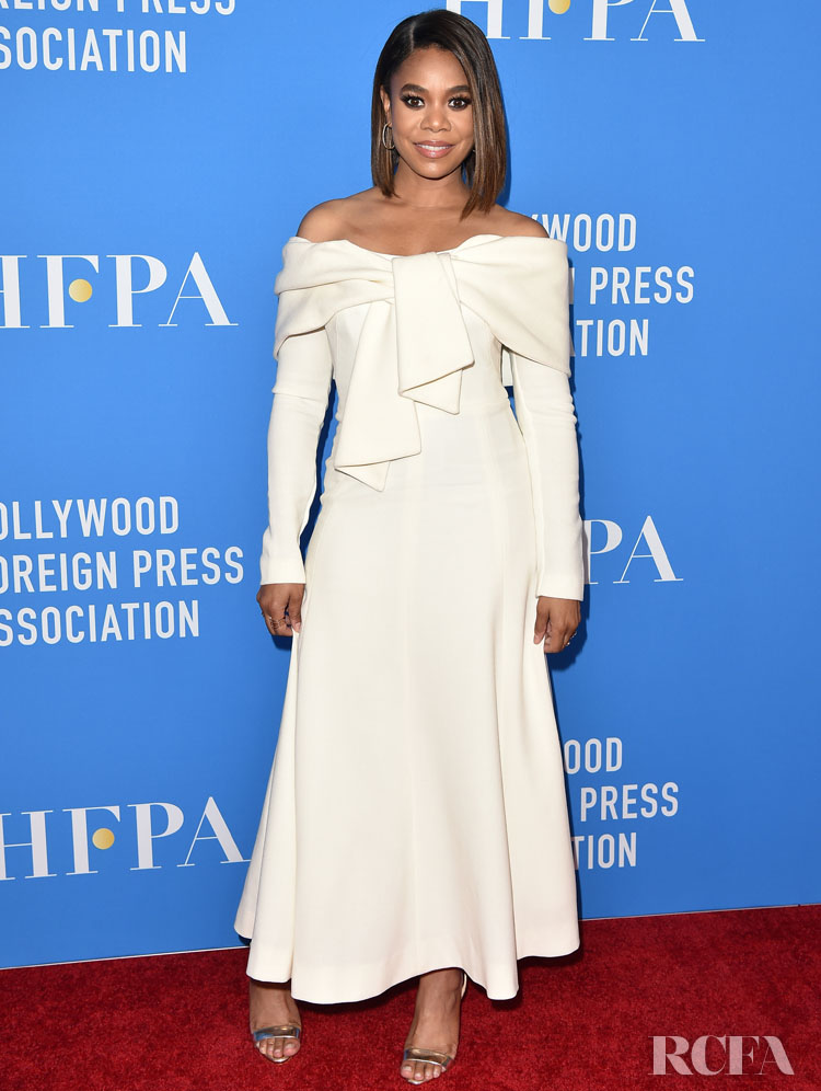 Regina Hall's Off-The-Shoulder Summer Style For The Hollywood Foreign Press Association's Annual Grants Banquet