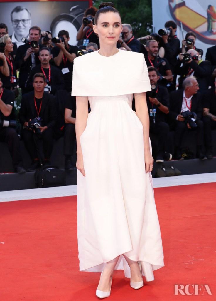 Rooney Mara In Givenchy Haute Couture - 'Joker' Venice Film Festival Premiere