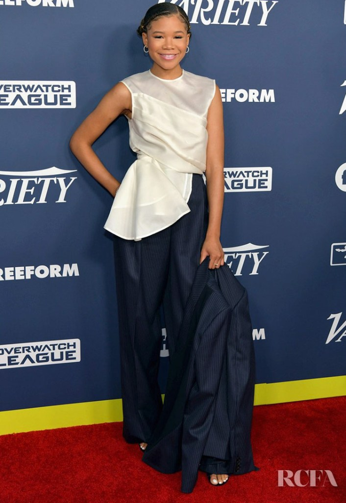 Storm Reid Suits Up In Nina Ricci For Variety's 2019 Power of Young Hollywood Party