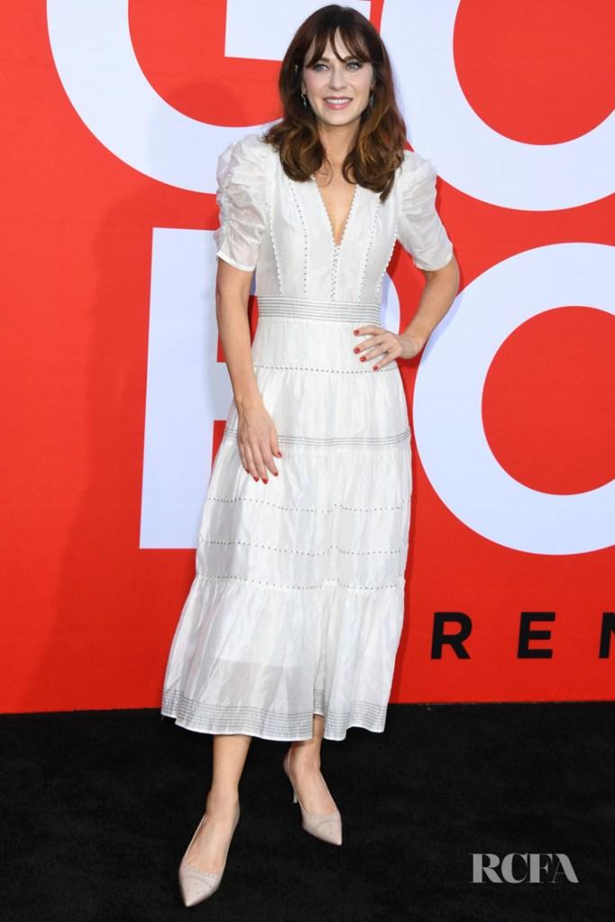 Zooey Deschanel Wears Ulla Johnson For The 'Good Boys' LA Premiere