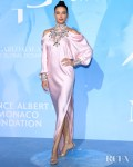 Adriana Lima Was Pretty In Pink For The Global Ocean Monte-Carlo Gala