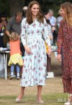 Catherine, Duchess Of Cambridge Dons Florals For Her Visit To The Royal Horticultural Society