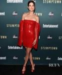Cobie Smulders Smolders In Red For The 'Stumptown' LA Premiere