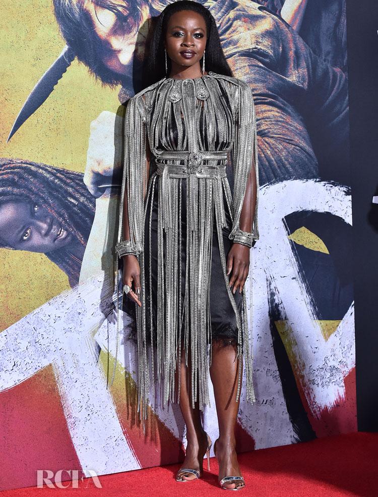 Danai Gurira Sees The Fringe Benefits In Christopher Kane At 'The Walking Dead' LA Screening