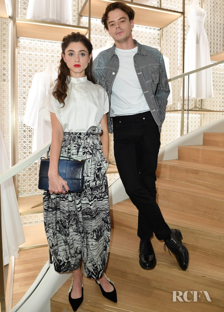 Natalia Dyer and Charlie Heaton Dior Champs-Elysees opening
