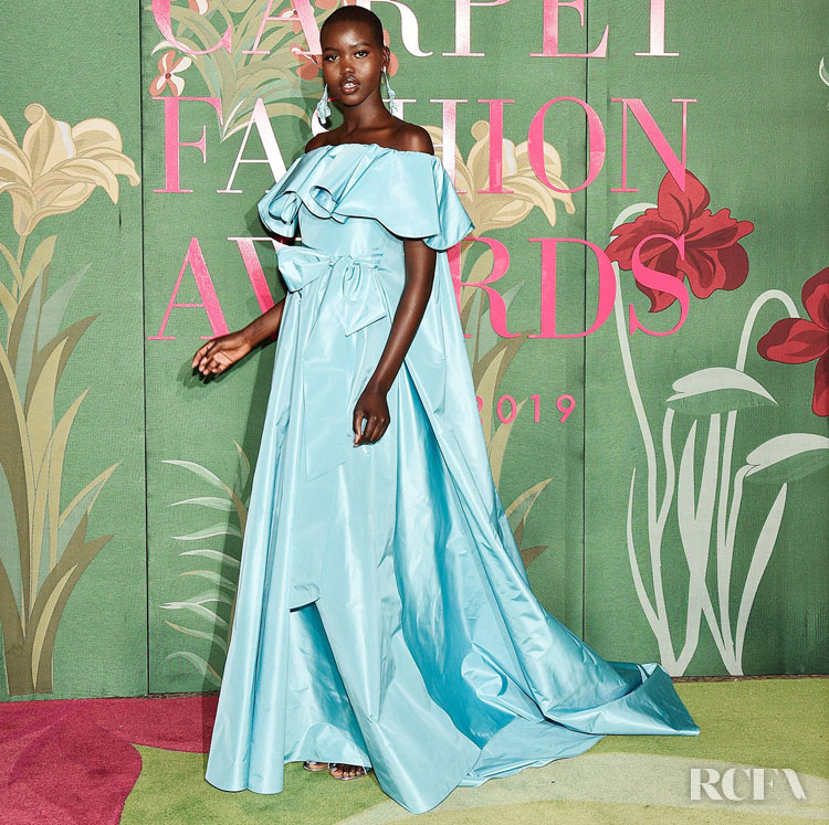 Adut Akech - Green Carpet Fashion Awards Italia 2019