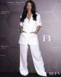 Rihanna's Was All White For The Fenty Beauty Seoul Photocall