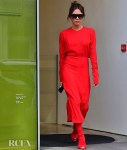 Victoria Beckham Is A Lady In Red Prior To London Fashion Week