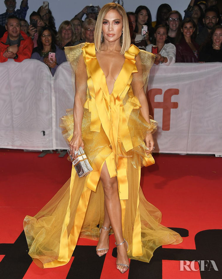 Jennifer Lopez in Maison Yeya Couture 'Hustlers' Toronto Film Festival Premiere