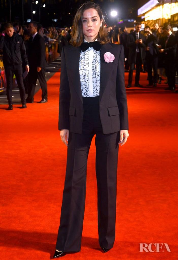 Ana De Armas In Alexandre Vauthier Haute Couture - 'Knives Out' London Film Festival Premiere