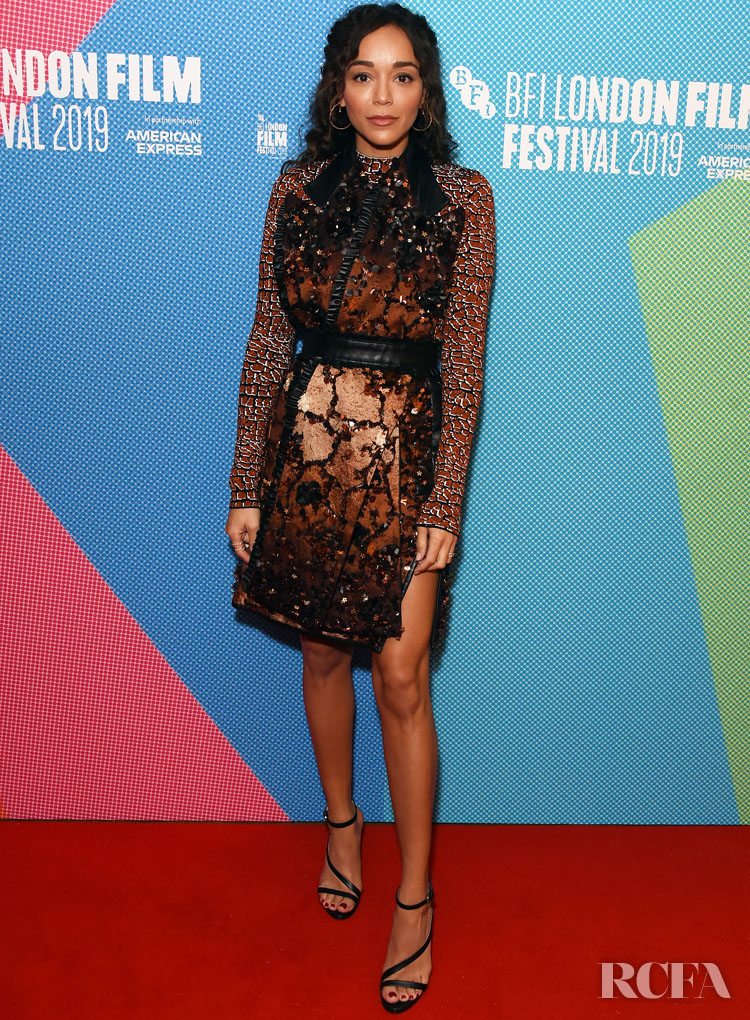 Ashley Madekwe In Mary Katrantzou - 'County Lines' London Film Festival Premiere