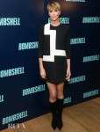 Charlize Theron Channels Her Inner Twiggy At The 'Bombshell' New York Screening