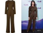 Gemma Arterton's Emilia Wickstead Kara Pleated Jumpsuit