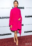 Gugu Mbatha-Raw's Hot-Pink Outing For The 'Farming' New York Premiere