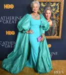 Helen Mirren Serves Up Her MOST REGAL Look In Badgley Mischka For The 'Catherine The Great' LA Premiere