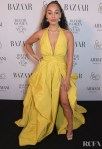 Jorja Smith's Mellow Yellow Zuhair Murad Gown For The 2019 Harper's Bazaar Women of the Year Awards