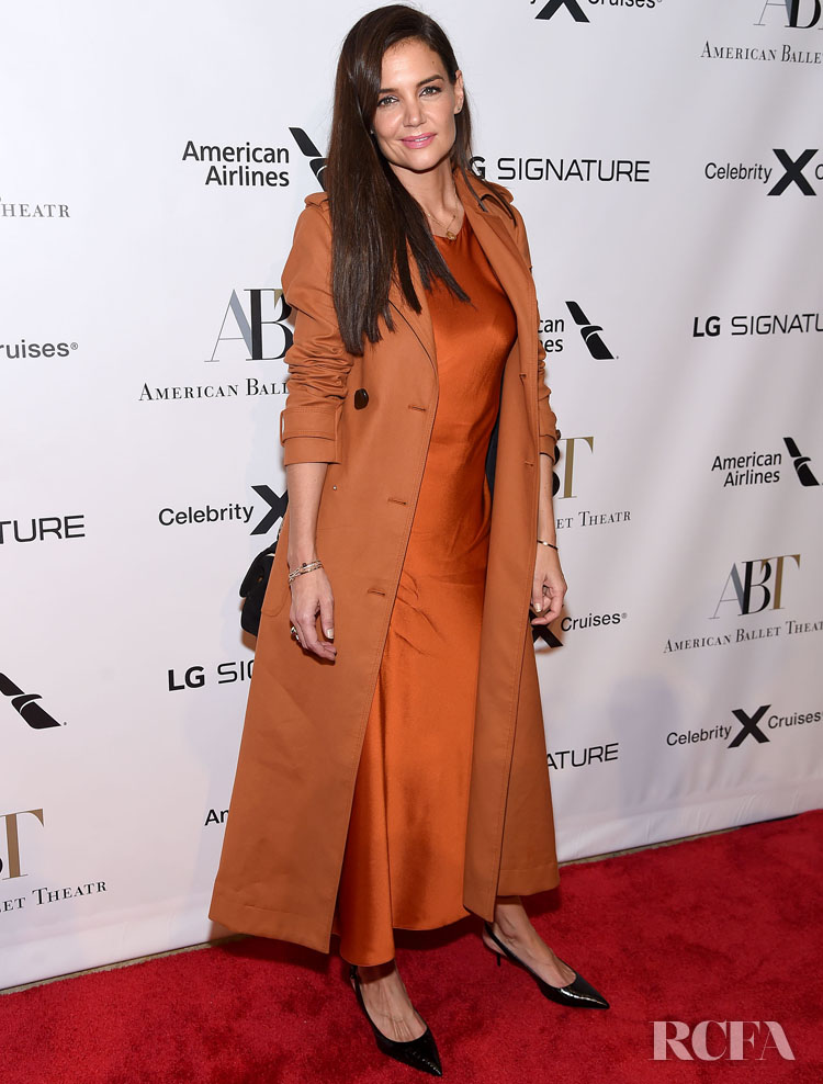 Katie Holmes' Pumpkin Spiced Look For The American Ballet Theatre 2019 Fall Gala